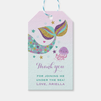 Mermaid Party Favor Under The Sea Thank You Tag