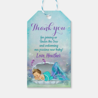 Mermaid Party Favour Under the Sea Thank You Tags