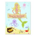 Mermaid Party Invitation 11 Cm X 14 Cm Invitation Card