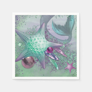 Mermaid Party Napkins Disposable Serviettes