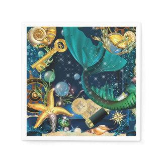 Mermaid Party Napkins Paper Napkin
