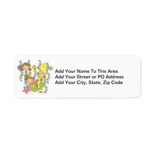 Mermaid Party Return Address Label