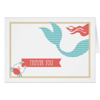 Mermaid Party  |  Thank You Card