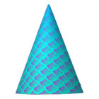 Mermaid Pattern In Aqua Blue and Purple Party Hat