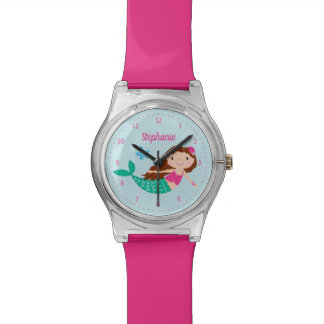 Mermaid Personalized Pink Watch