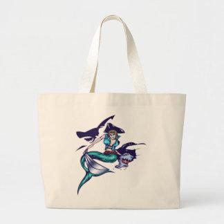 Mermaid Pirate Canvas Bag