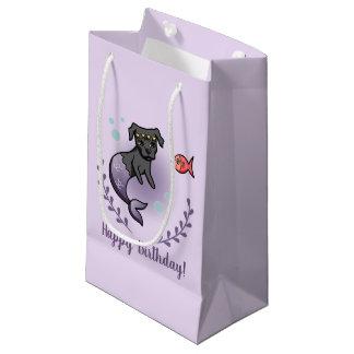 Mermaid Pit Bull 2 Birthday Small Gift Bag