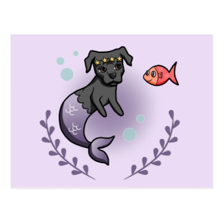 Mermaid Pit Bull 2 Postcard