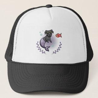 Mermaid Pit Bull 2 Trucker Hat