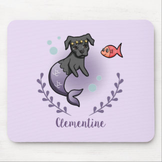 Mermaid Pit Bull 2 with Name Mouse Pad