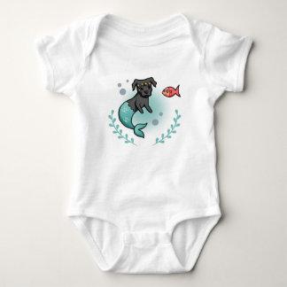 Mermaid Pit Bull Baby Bodysuit
