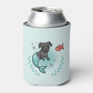 Mermaid Pit Bull Can Cooler