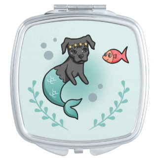 Mermaid Pit Bull Compact Mirrors
