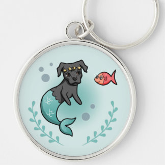Mermaid Pit Bull Key Ring