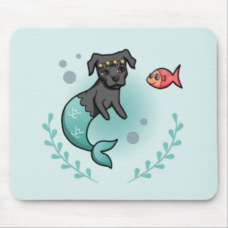 Mermaid Pit Bull Mouse Pad
