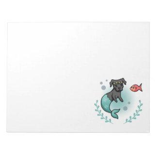 Mermaid Pit Bull Notepad