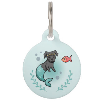 Mermaid Pit Bull Pet ID Tag