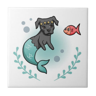 Mermaid Pit Bull Tile