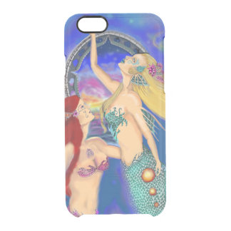 Mermaid Portal Digital Sunset Clear iPhone 6/6S Case