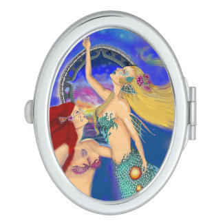 Mermaid Portal Digital Sunset Makeup Mirror