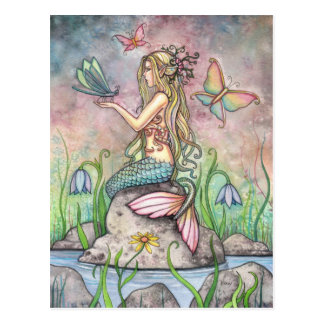 Mermaid Postcard, Creekside Magic Postcard