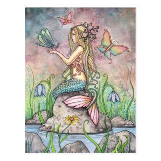 Mermaid Postcard, Creekside Magic Postcard