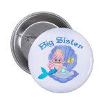 Mermaid Princess Big Sister 6 Cm Round Badge