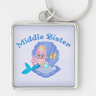 Mermaid Princess Middle Sister Keychain