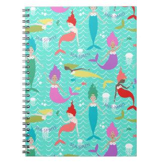 Mermaid Princess Notebook in Teal/Multi