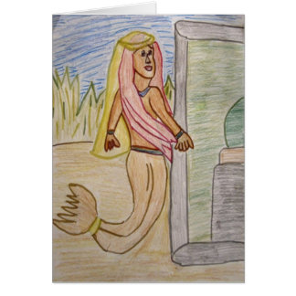 Mermaid Princess notecard