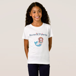 Mermaid Princess Tiara Seashell Star Watercolor Dk T-Shirt