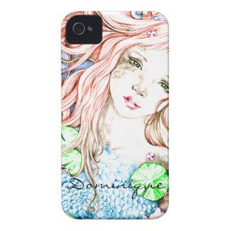 Mermaid Princess Watercolor iPhone 4 Cover