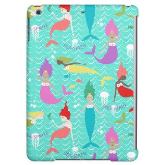 Mermaid Printed Ipod Air case in Teal/Multi