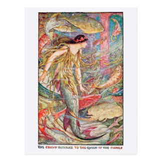 Mermaid Queen of the Fishes Postcard