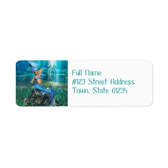 Mermaid Return Address Mailing Labels
