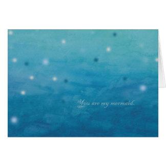 Mermaid Romantic Love Art Valentine s Card for Her