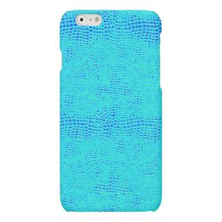 Mermaid Scale Neon Blue Vegan Leather