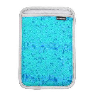 Mermaid Scale Neon Blue Vegan Leather iPad Mini Sleeve