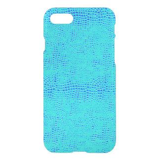 Mermaid Scale Neon Blue Vegan Leather iPhone 8/7 Case