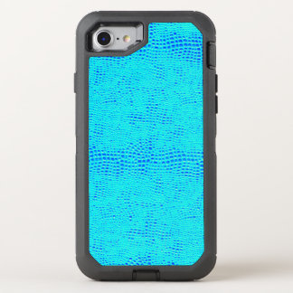 Mermaid Scale Neon Blue Vegan Leather OtterBox Defender iPhone 8/7 Case