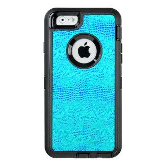 Mermaid Scale Neon Blue Vegan Leather OtterBox Defender iPhone Case