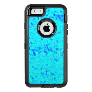 Mermaid Scale Neon Blue Vegan Leather OtterBox iPhone 6/6s Case