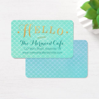 Mermaid Scales and Gold Business Card
