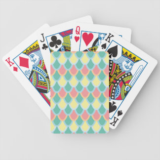 Mermaid scales bicycle playing cards