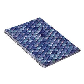 Mermaid Scales Blue note book