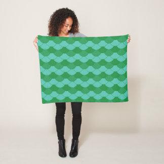 Mermaid scales fleece blanket