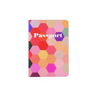 Mermaid Scales Lavender and Bittersweet Octagon Passport Holder