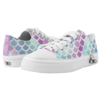 Mermaid Scales, Multi-colored, Pretty Printed Shoes