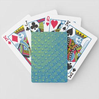 Mermaid scales poker deck