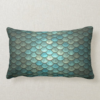 Mermaid Scales Throw Lumbar Pillow